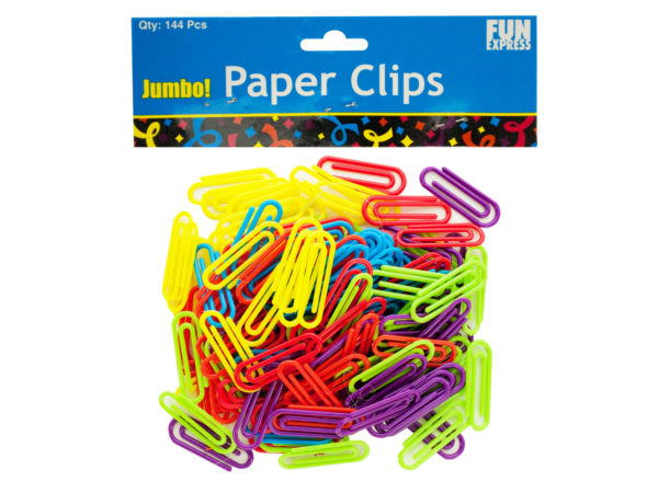 Jumbo Colored Paper Clips