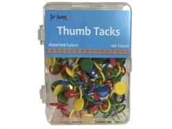 Wholesale 100 Count Thumb Tacks In Assorted Colors